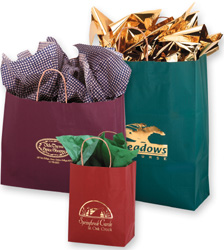 Matte Colored Shopping Bags